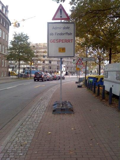Schild, Holler-Allee, Bremen