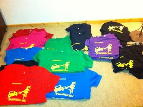 Farben der T-Shirts
